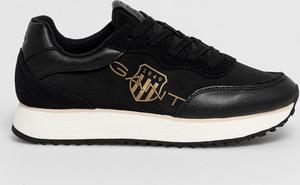 Czarne buty sportowe Gant ze skóry