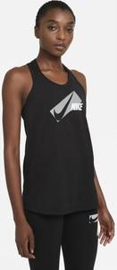 Czarny top Nike w sportowym stylu z okrągłym dekoltem