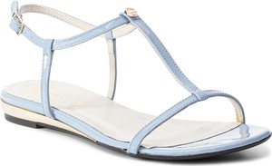 Sandały Nessi z płaską podeszwą ze skóry ekologicznej