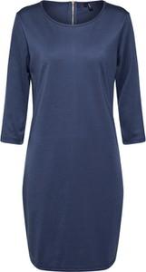 Niebieska sukienka Vero Moda w stylu klasycznym dopasowana