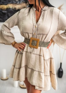 Sukienka Fason z bawełny mini z dekoltem w kształcie litery v