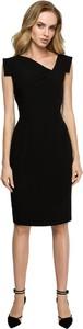 Czarna sukienka Style bez rękawów z tkaniny