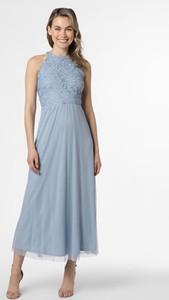 Niebieska sukienka Vila maxi z okrągłym dekoltem