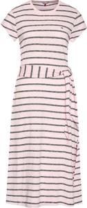 Sukienka Tommy Jeans z okrągłym dekoltem midi