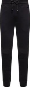 Czarne spodnie sportowe Hugo Boss z dresówki