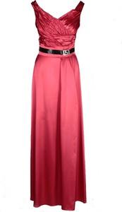 Czerwona sukienka Fokus z dekoltem w kształcie litery v