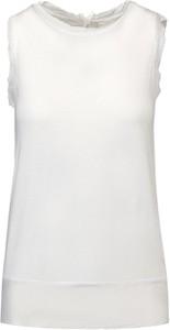 Bluzka Deha w stylu casual bez rękawów z jedwabiu