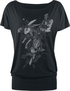 Czarny t-shirt Full Volume By Emp z krótkim rękawem w młodzieżowym stylu