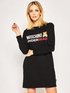 Sukienka Moschino mini prosta z długim rękawem