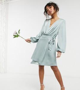 Sukienka Tfnc Petite mini z dekoltem w kształcie litery v kopertowa