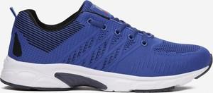 Niebieskie buty sportowe born2be ze skóry