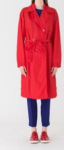 Czerwony płaszcz Strenesse w stylu casual
