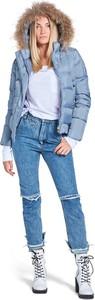 Niebieska kurtka Tiffi w stylu casual krótka