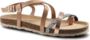 Brązowe sandały Yokono w stylu casual ze skóry