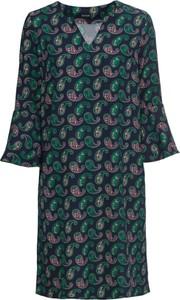 Sukienka bonprix BODYFLIRT z dekoltem w kształcie litery v z tkaniny