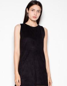 Czarna sukienka Venaton z okrągłym dekoltem bez rękawów