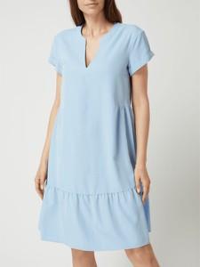 Sukienka S.Oliver Black Label z dekoltem w kształcie litery v mini z krótkim rękawem