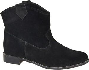 Czarne botki Jankobut w stylu casual