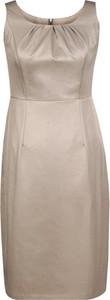 Brązowa sukienka Fokus midi ołówkowa z tkaniny