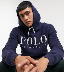 Granatowa bluza POLO RALPH LAUREN z plaru w młodzieżowym stylu
