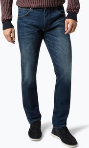 Niebieskie jeansy Wrangler z jeansu w street stylu