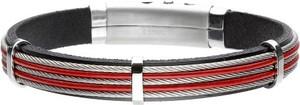 Manoki BA760C męska bransoletka czerwona z linkami