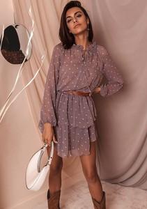 Sukienka Latika z długim rękawem mini wyszczuplająca