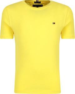 Żółta koszulka dziecięca Tommy Hilfiger z krótkim rękawem