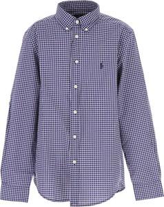 Niebieska koszula dziecięca Ralph Lauren z bawełny