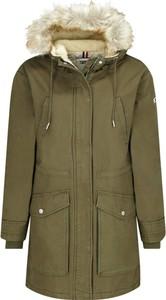 Zielona kurtka Tommy Jeans z bawełny
