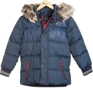 Niebieska kurtka dziecięca Nickel Sportswear dla chłopców z plaru