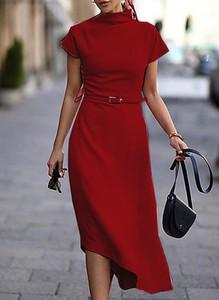 Sukienka Sandbella z krótkim rękawem midi