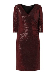 Czerwona sukienka Vera Mont mini z dekoltem w kształcie litery v prosta