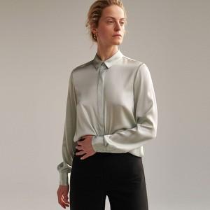 Koszula Reserved z długim rękawem z jedwabiu