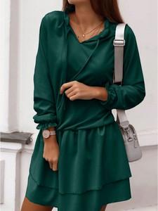Zielona sukienka magmac.pl mini rozkloszowana w stylu casual