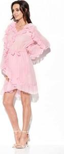 Sukienka Lemoniade z długim rękawem mini z jedwabiu