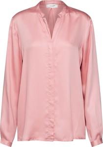 Różowa bluzka Moss Copenhagen z długim rękawem