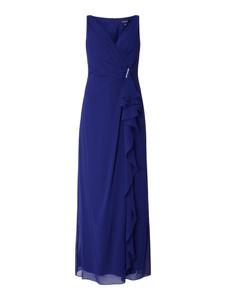 Niebieska sukienka Ralph Lauren z szyfonu