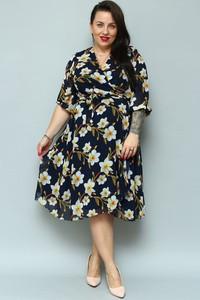 Sukienka KARKO z długim rękawem w stylu casual z szyfonu