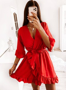 Czerwona sukienka Pakuten mini
