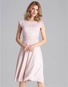 Różowa sukienka Figl midi