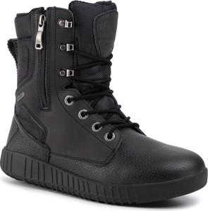 Czarne buty zimowe Pajar