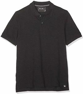 Czarna koszulka polo amazon.de z krótkim rękawem