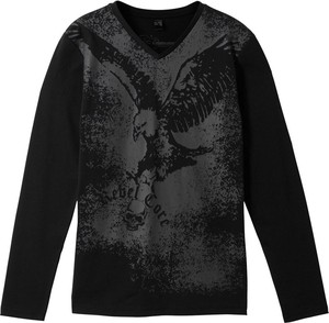 Czarna koszulka dziecięca bonprix bpc bonprix collection