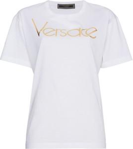 Bluzka Versace w młodzieżowym stylu z bawełny
