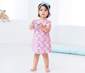 Różowa sukienka dziewczęca Tchibo z dżerseju