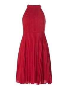 Czerwona sukienka Jake*s Cocktail bez rękawów z dekoltem halter z szyfonu