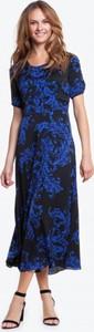 Niebieska sukienka POTIS & VERSO z okrągłym dekoltem maxi