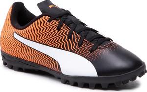 Czarne buty sportowe dziecięce Puma dla chłopców sznurowane