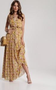 Żółta sukienka Renee maxi w stylu boho